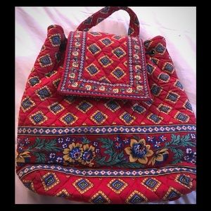 Vera Bradley quilted backpack purse